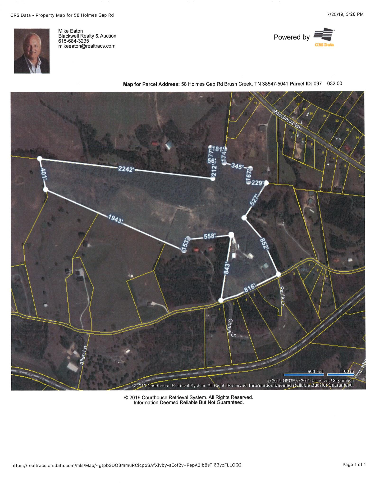 58 Holmes Gap Rd Lot C, Brush Creek, TN 38547 - Brush Creek, TN real estate listing