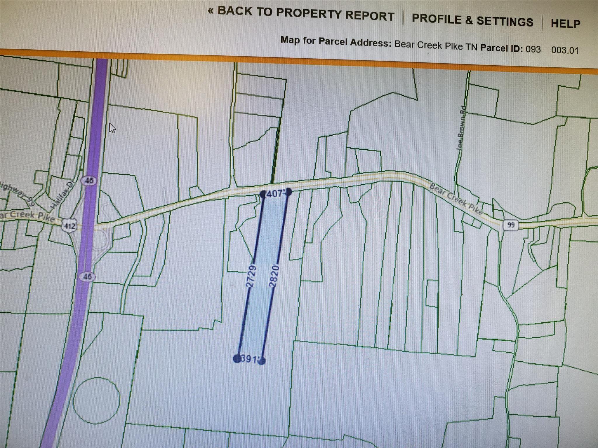 0 Bear Creek Pike - 25 Acres, Summertown, TN 38483 - Summertown, TN real estate listing