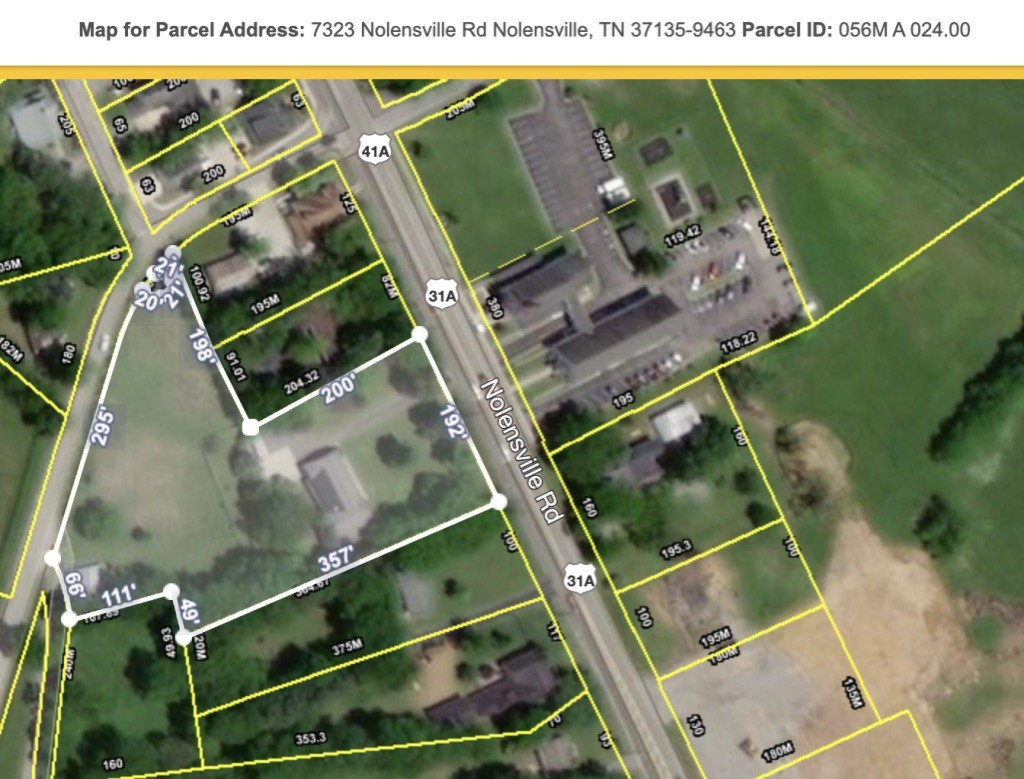 7323 Nolensville Rd Property Photo - Nolensville, TN real estate listing