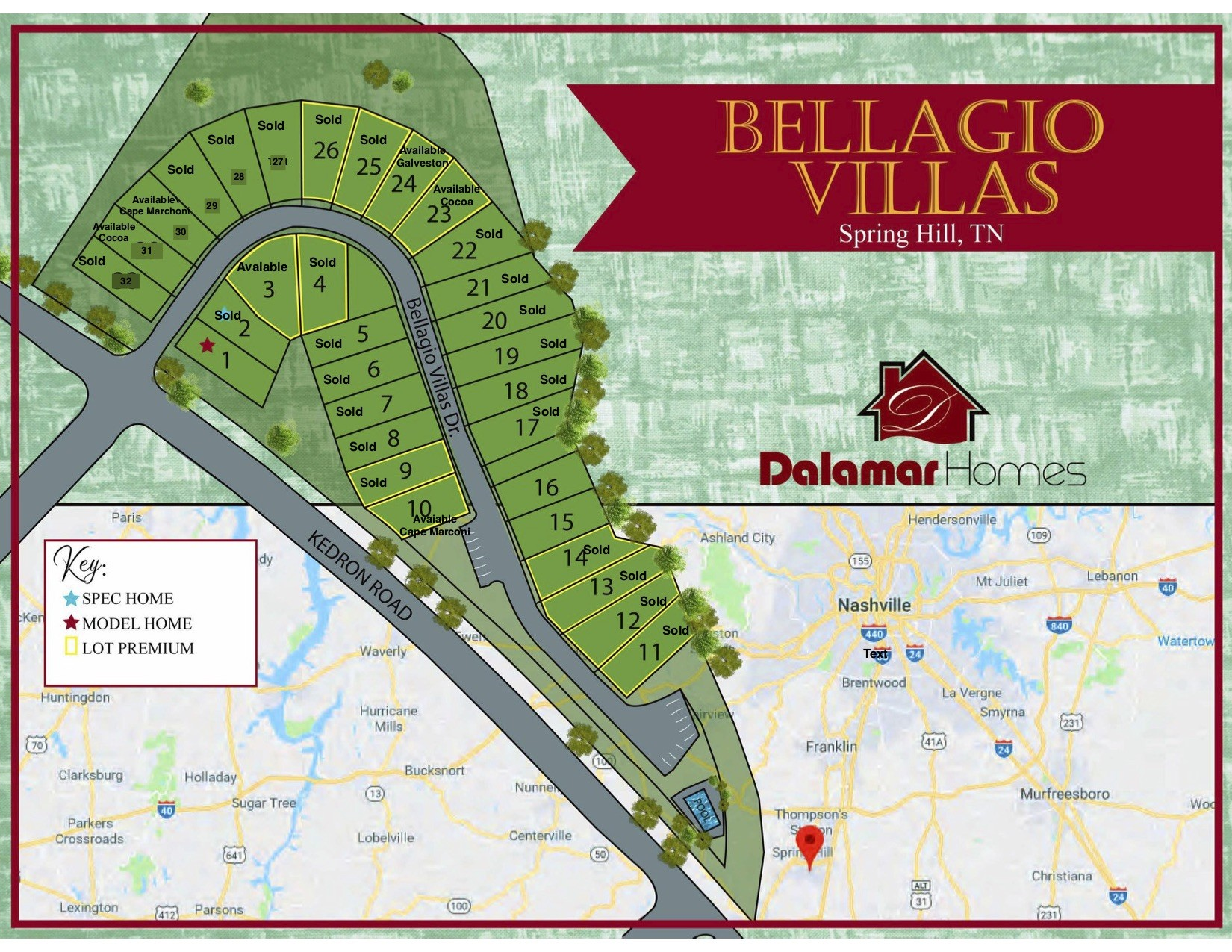 117 Bellagio Villas Drive Property Photo - Spring Hill, TN real estate listing