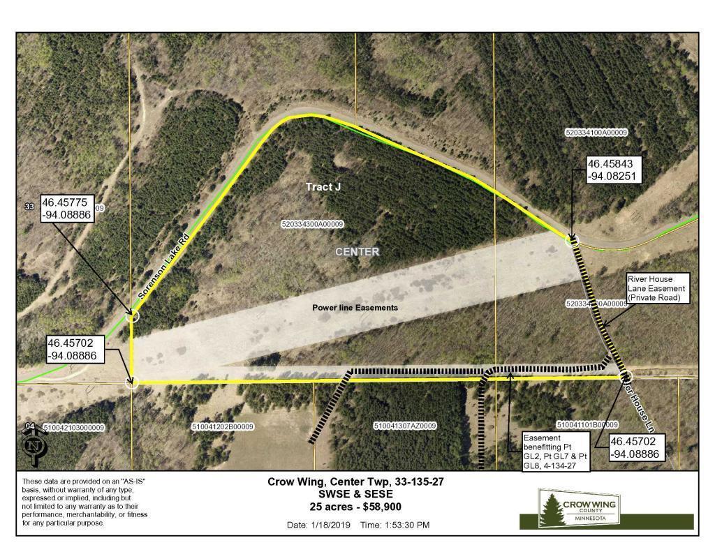 TBD Sorenson Lake Road, Center Twp, MN 56465 - Center Twp, MN real estate listing