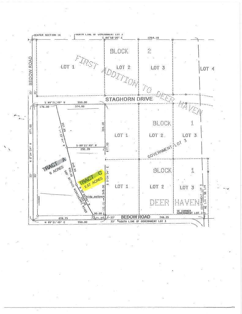 Tract C Bedow Road Property Photo - Fort Ripley, MN real estate listing