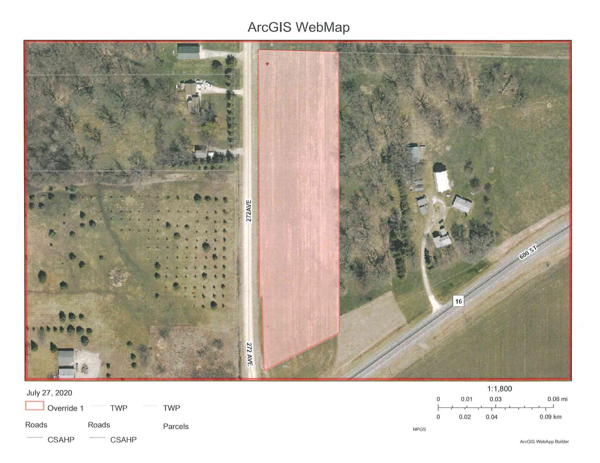 TBD 272nd Avenue Property Photo - Mantorville, MN real estate listing