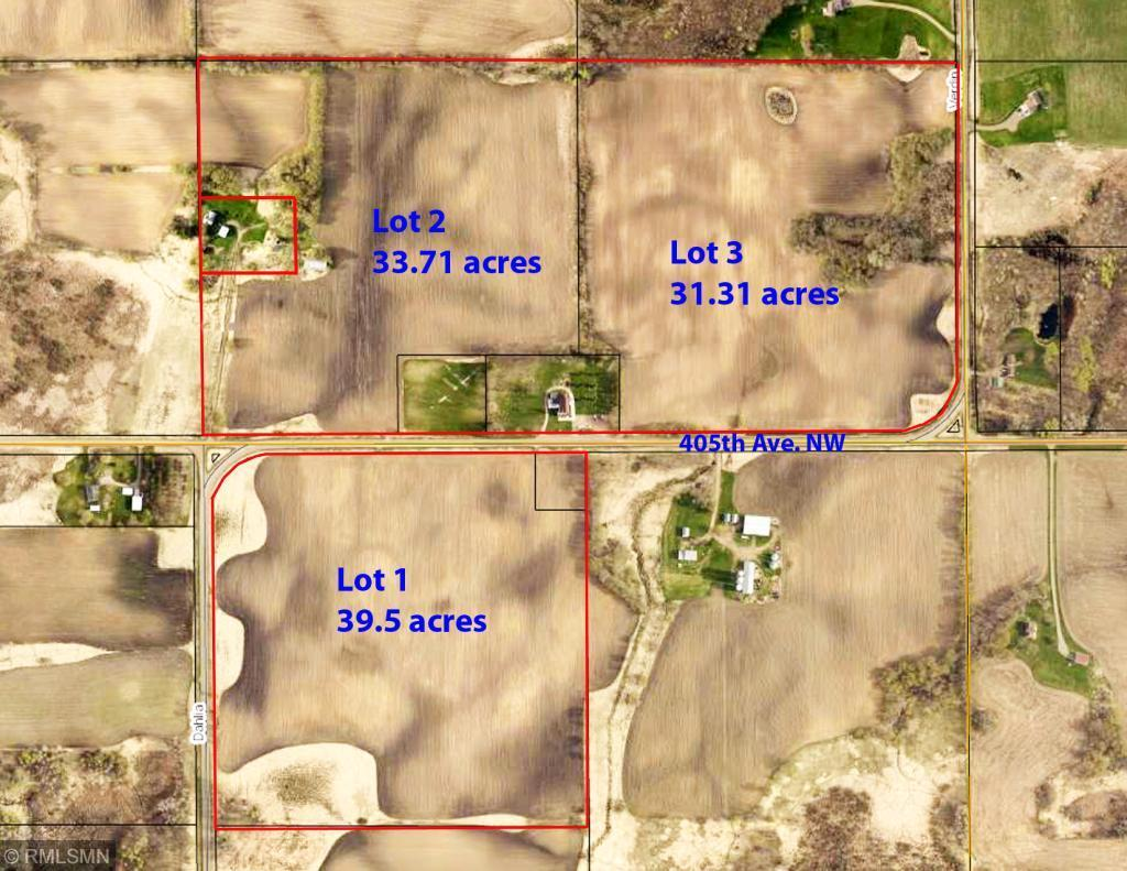XXX Lot 3 405th Ave. NW Property Photo - Braham, MN real estate listing