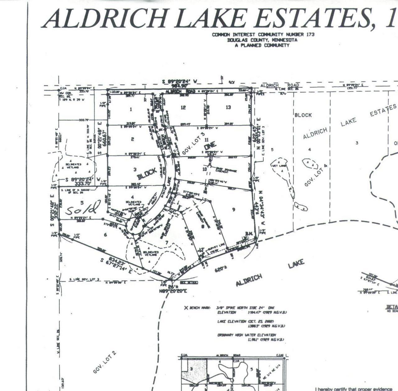 11 Lake Aldrich Property Photo - Brandon, MN real estate listing