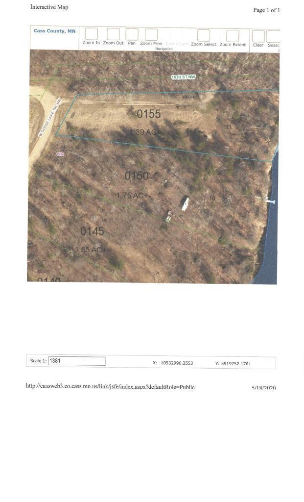00 NW West Goose Lake Trail Property Photo - Backus, MN real estate listing
