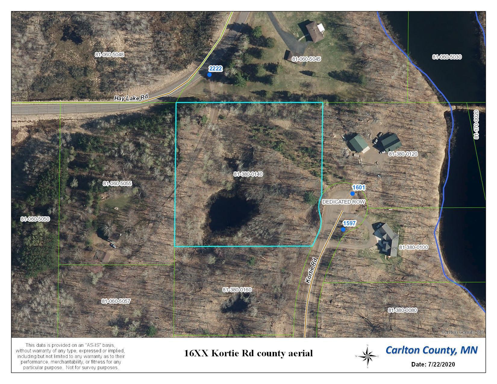 16XX Kortie Property Photo - Carlton, MN real estate listing