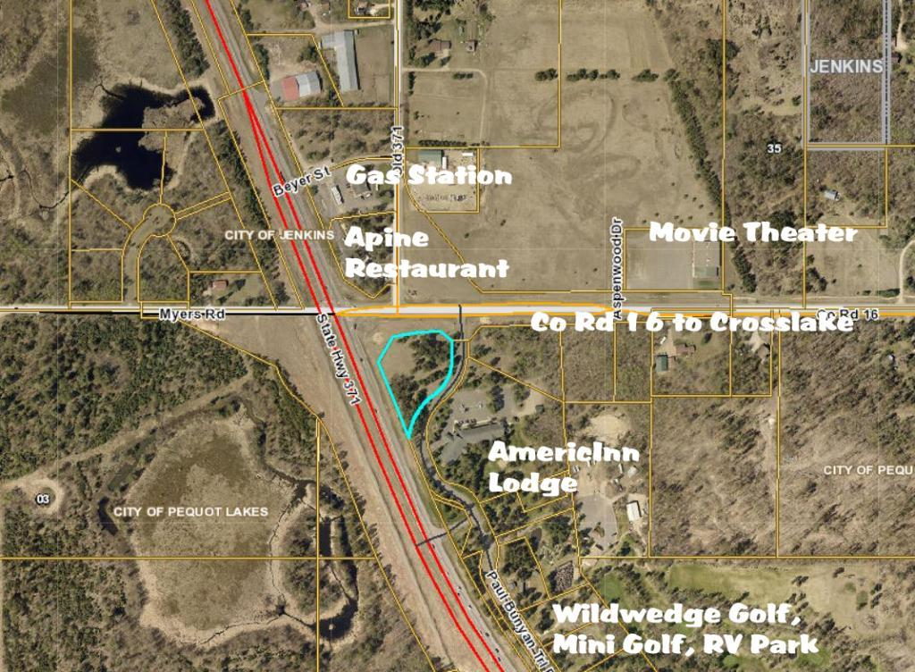 0 Hwy 371 N and County Rd 16 Property Photo - Jenkins, MN real estate listing