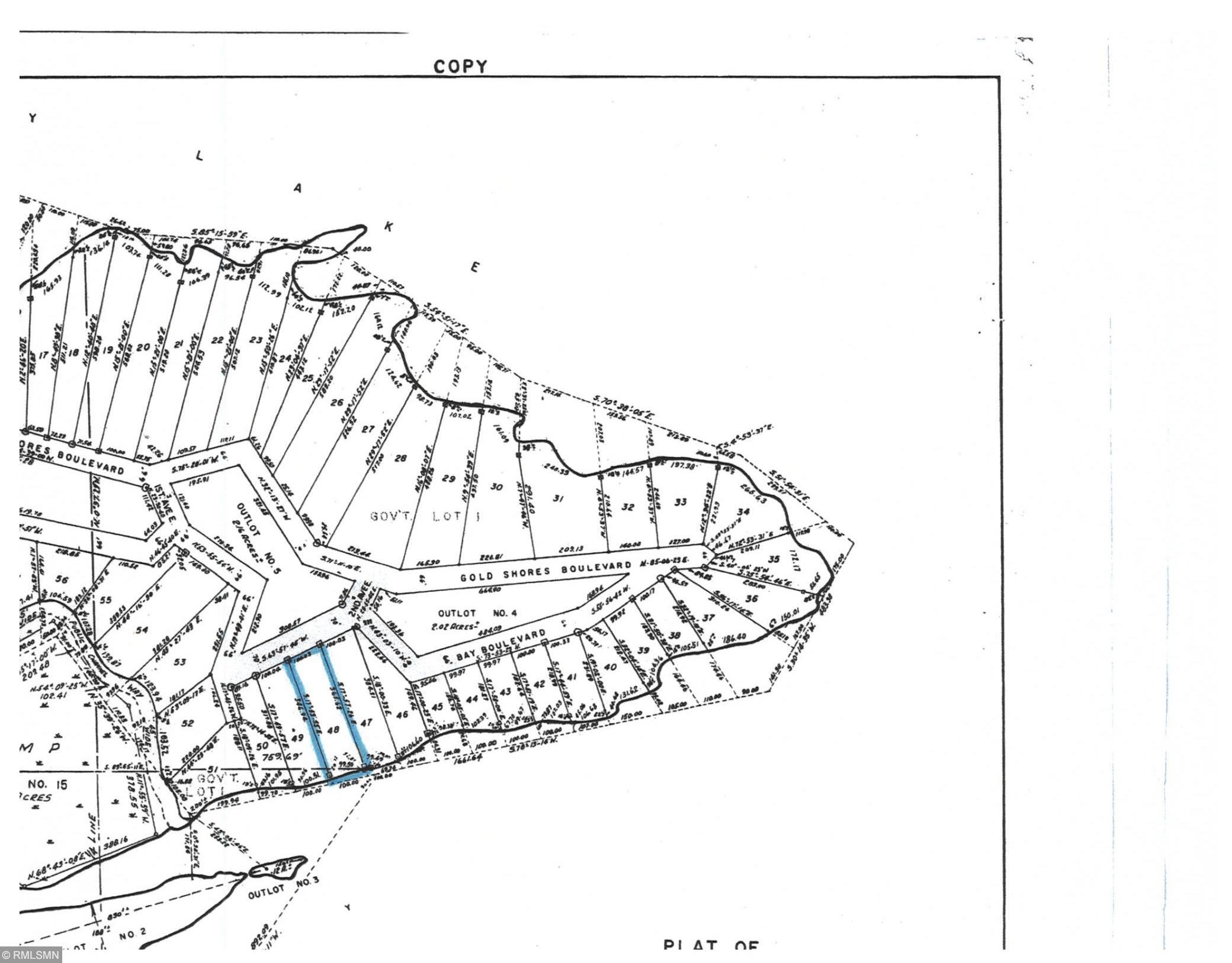 Lot 48 Gold Shores First Addition Property Photo - International Falls, MN real estate listing