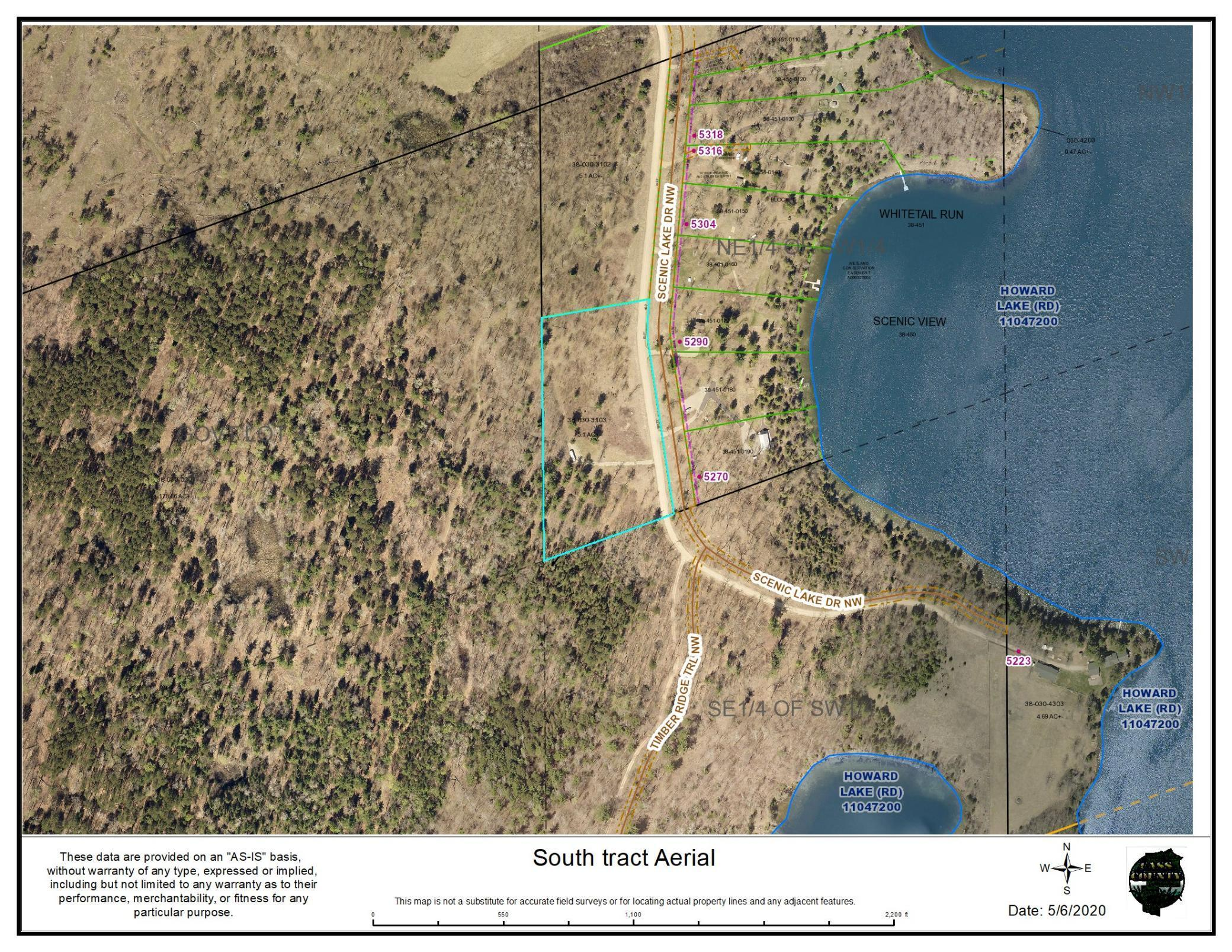 South Tract Scenic Lake Drive NW Property Photo - Akeley, MN real estate listing