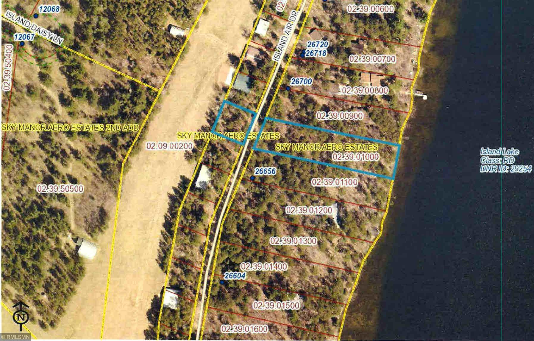 TBD Island Air Drive Property Photo - Arago Twp, MN real estate listing