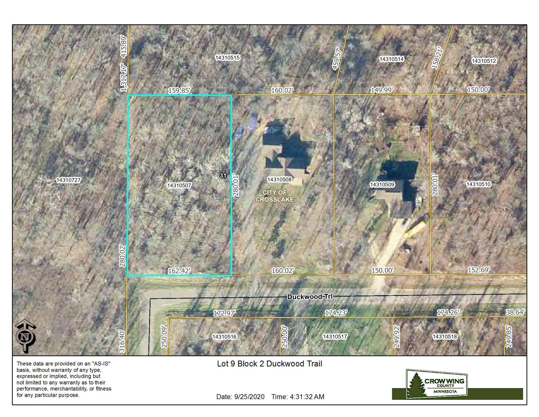 Lot 9 Blk 2 Duckwood Trail Property Photo - Crosslake, MN real estate listing