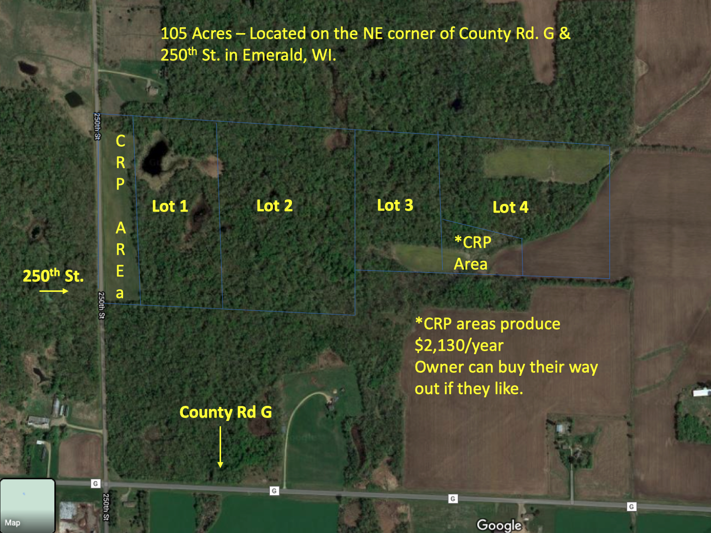 XYZ 250th St Property Photo - Emerald, WI real estate listing