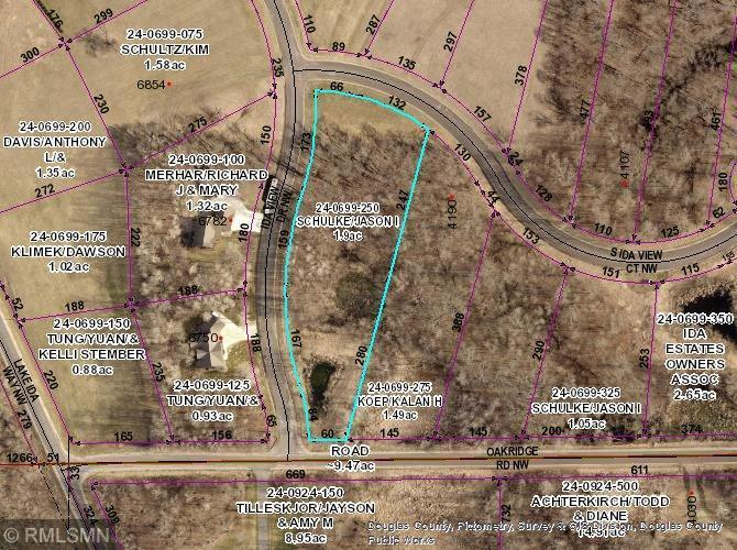 Lot 2 Blk 1 S Ida View Court NW Property Photo - Ida Twp, MN real estate listing