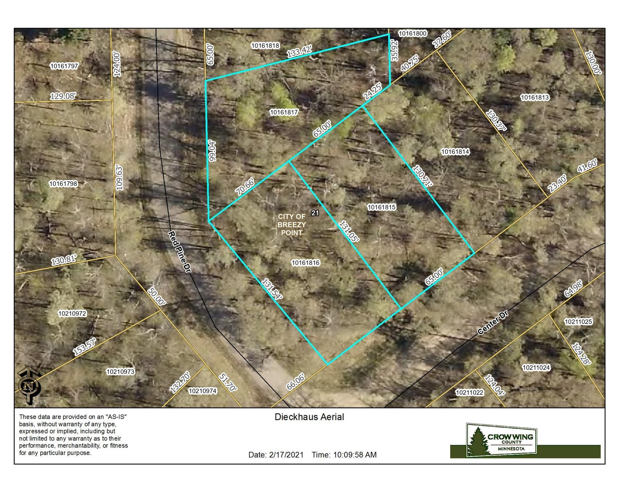Lot 21,22,23 Red Pine Drive Property Photo - Breezy Point, MN real estate listing