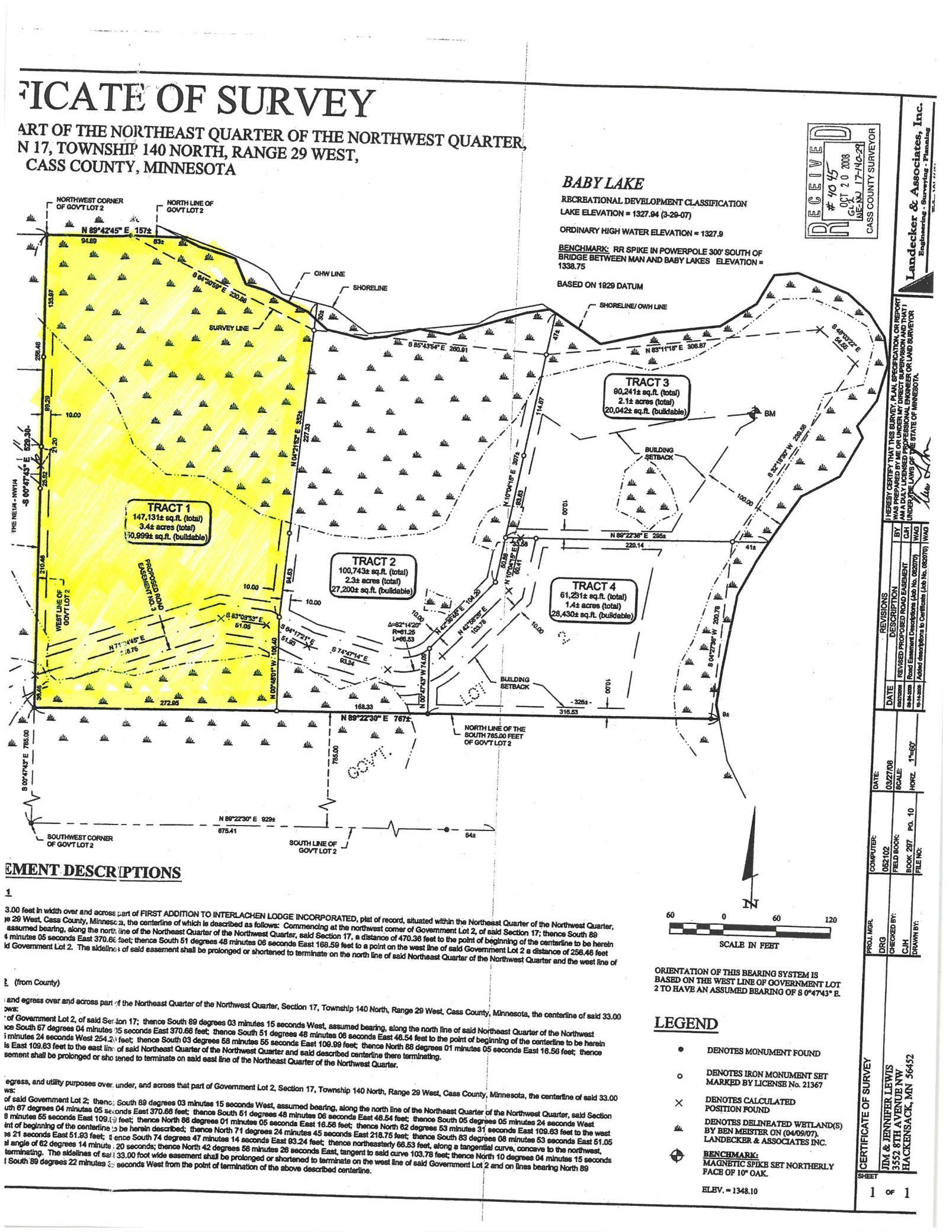 xxxx Tract 1 Baby Lake Property Photo - Hackensack, MN real estate listing
