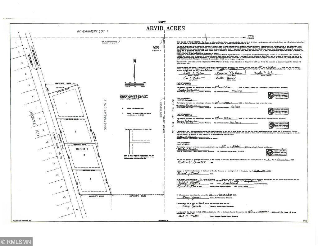Lot 1 County Road 38 Property Photo - Buffalo Lake, MN real estate listing