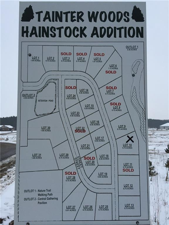 Lot 13 577th Street Property Photo - Colfax, WI real estate listing