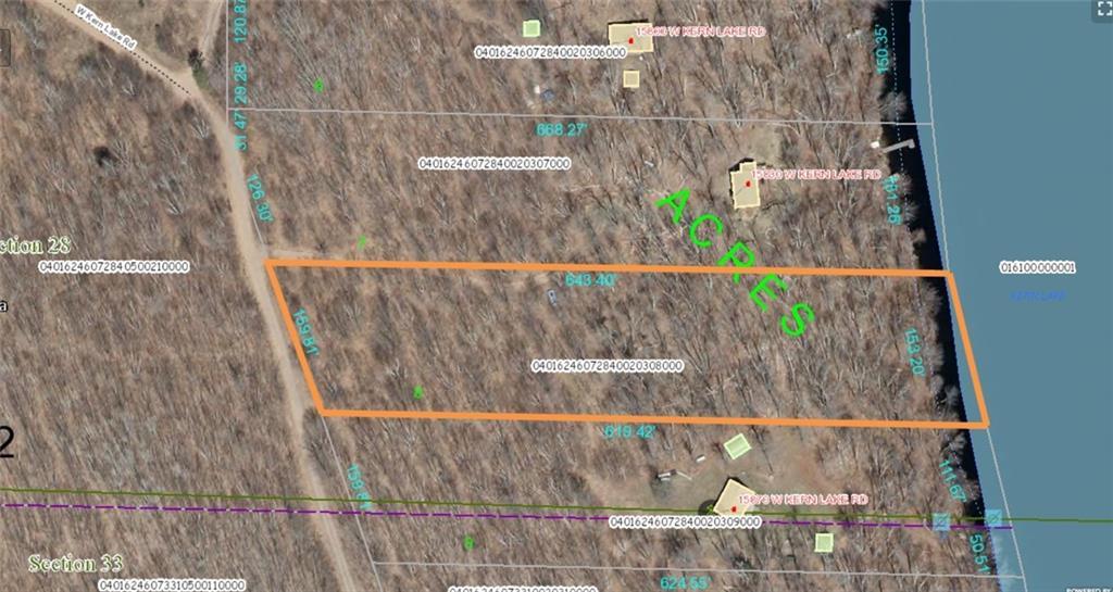 XXX W Kern Lake Road, Delta, WI 54856 - Delta, WI real estate listing