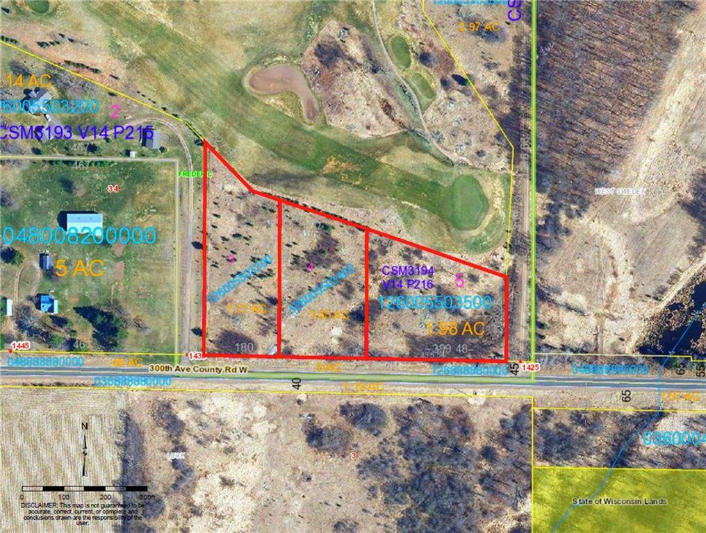 Lots 3, 4, 5 Highway W Property Photo - Frederic, WI real estate listing
